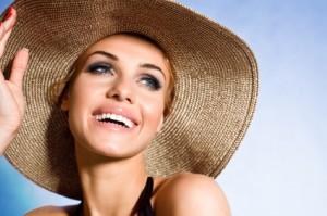 女優帽の画像