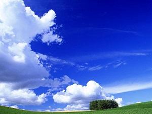 晴れた青空の画像