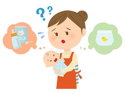 泣き赤ちゃんのイラスト