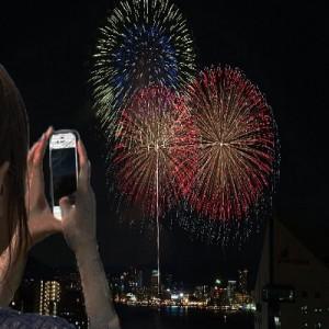 花火撮影の画像