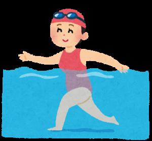 水中ウォーキングの画像