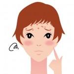 眉毛にニキビができる原因はストレス?頭痛も関係している?