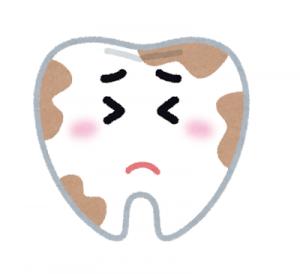 汚れた歯のイラスト