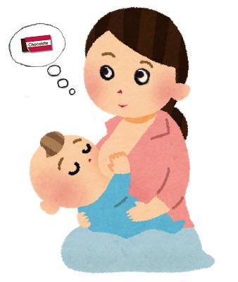 授乳期のイラスト