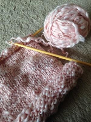 毛糸の編み物の画像