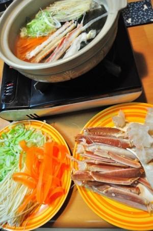 カニ鍋の画像