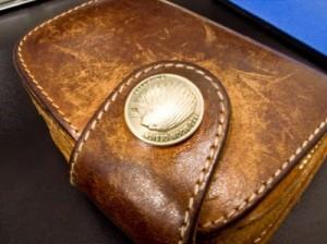 牛革財布の画像