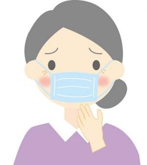 マスクをした女性のイラスト