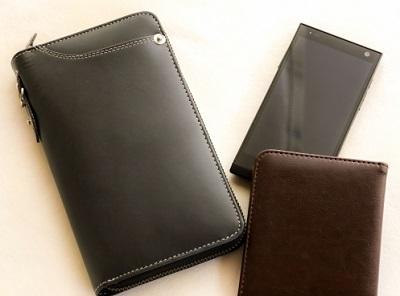 革の財布の画像