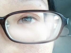曇りメガネの画像